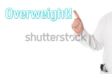 Doctor pointing at a title (overweight) Stock photo © fotoquique