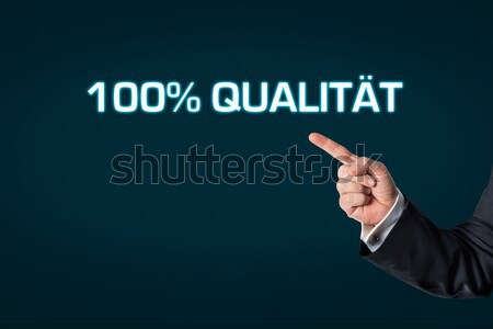 üzletember mutat szavak kiégés kék iroda Stock fotó © fotoquique
