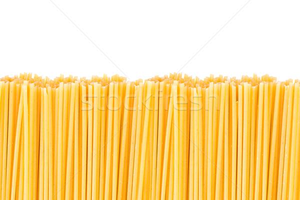 スパゲティ パスタ 黄色 白 テクスチャ ストックフォト © fotoquique