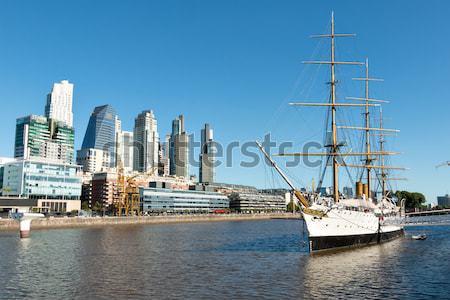 Буэнос-Айрес порт Skyline суда бизнеса воды Сток-фото © fotoquique