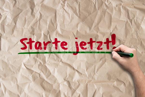 Start now! - Concept on paper Stock photo © fotoquique