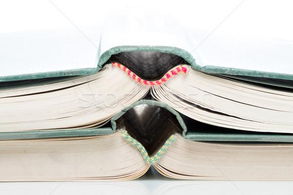 Stacked open books Stock photo © fotoquique