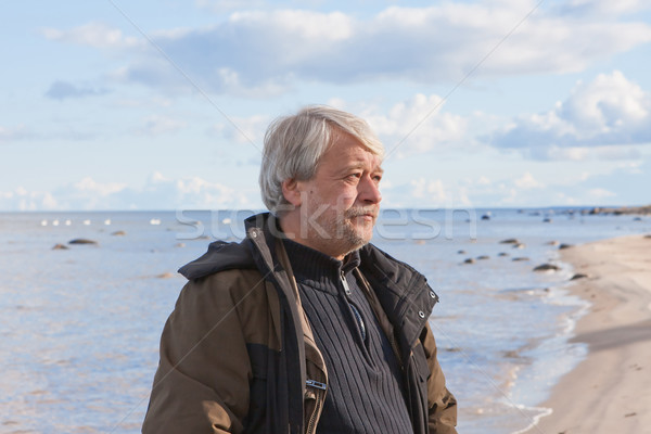 Middle-aged man at the sea. Stock photo © fotorobs