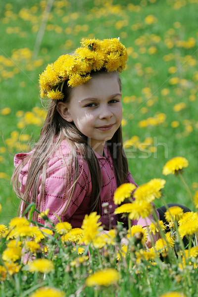 Jong meisje zomer dag mooie genieten tijd Stockfoto © fotorobs