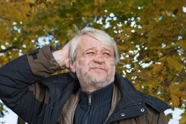 Portret man najaar dag volwassen Stockfoto © fotorobs