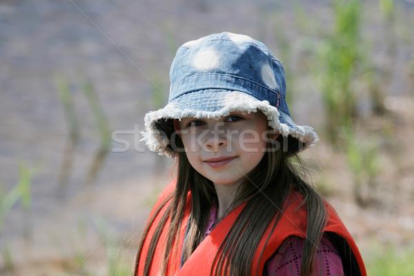 若い女の子 夏 日 いい 帽子 楽しむ ストックフォト © fotorobs