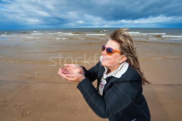 Adulto donna mare maturo occhiali da sole Foto d'archivio © fotorobs