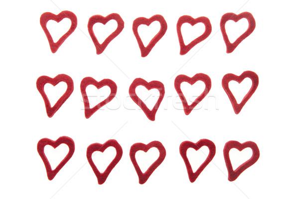 Kalpler beyaz 15 mutlu arka plan Stok fotoğraf © fotorobs