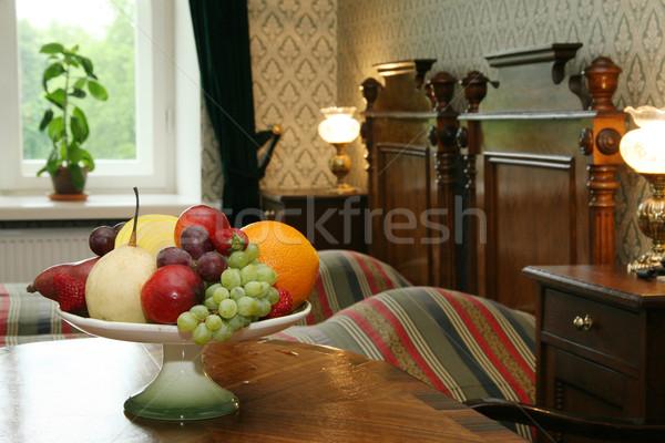 Yemek farklı meyve kil konteyner iç Stok fotoğraf © fotorobs