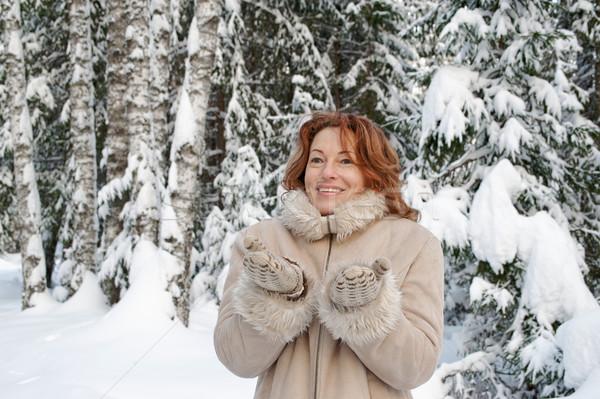 Portre gülen kadın gün orman Stok fotoğraf © fotorobs