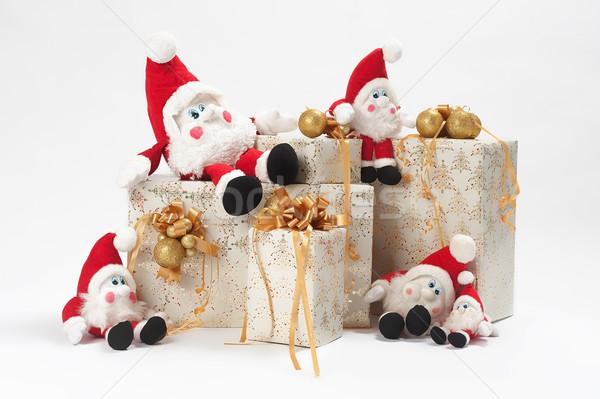贈り物 クリスマス 5 紙 歳の誕生日 背景 ストックフォト © fotorobs