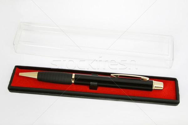 Kalem ofis çalışmak arka plan kırmızı siyah Stok fotoğraf © fotorobs