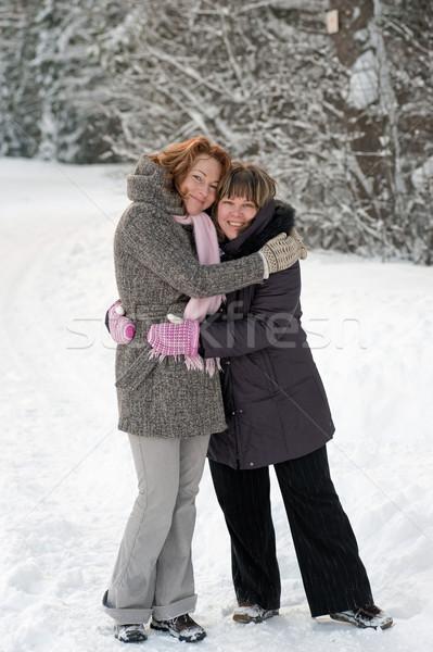 友情 冬 カップル 友達 日 ストックフォト © fotorobs