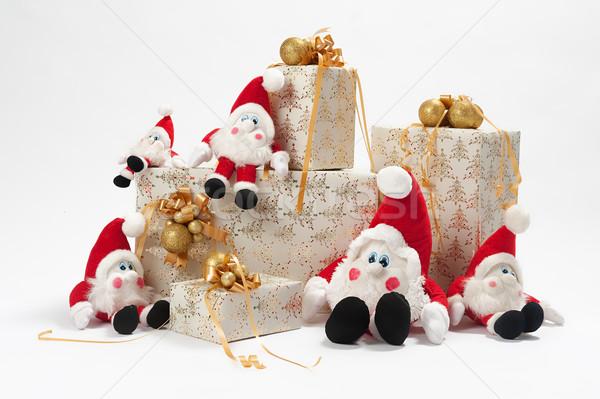 贈り物 クリスマス 5 紙 歳の誕生日 黒 ストックフォト © fotorobs