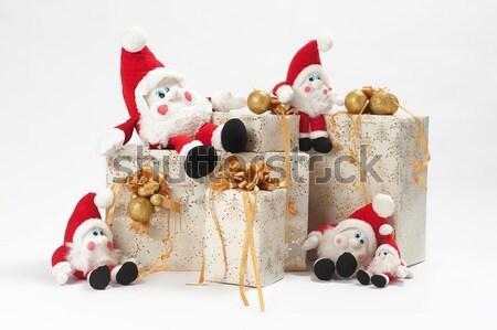 Navidad juguetes presente dos juguete tractor Foto stock © fotorobs