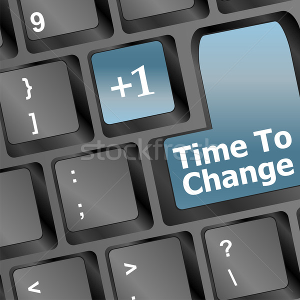 time to change key on keyboard showing time concept Stock photo © fotoscool