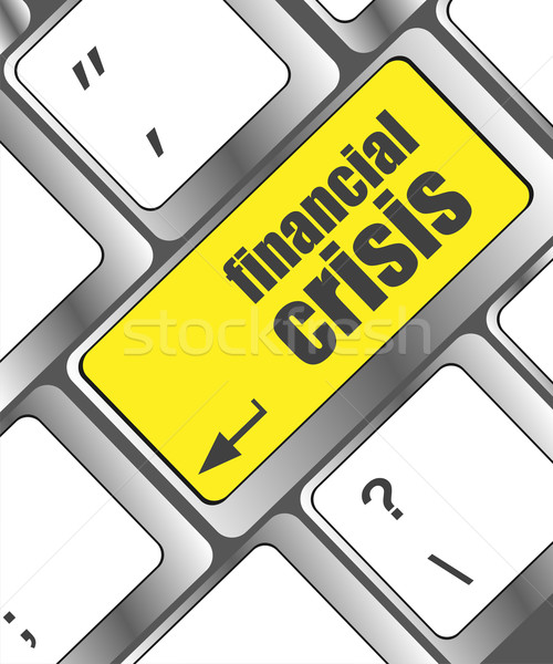Stock photo: financial crisis key showing business insurance concept, business concept