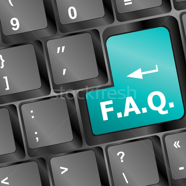Toetsenbord faq knop business internet laptop Stockfoto © fotoscool