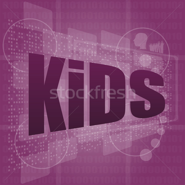 kid word on a virtual digital background Stock photo © fotoscool