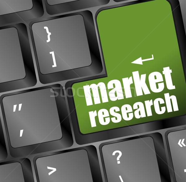 Сток-фото: рынке · исследований · слово · кнопки · клавиатура · мягкой