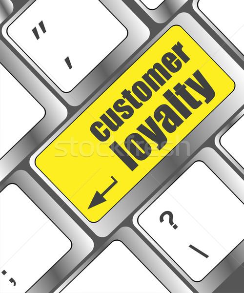 Botón clave cliente lealtad palabra Foto stock © fotoscool