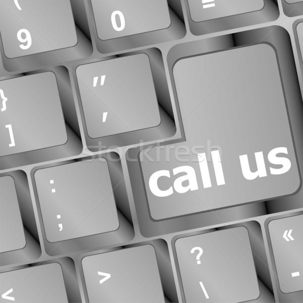 Stockfoto: Toetsenbord · oproep · knop · kantoor · internet · wereld