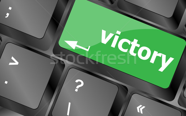 Computer keyboard with victory key Stock photo © fotoscool