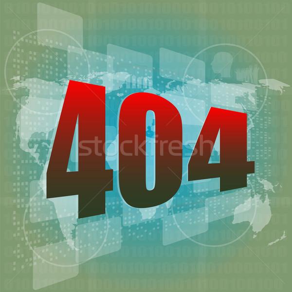 internet concept: nuumber 404 on digital screen Stock photo © fotoscool