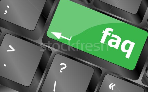Clé faq affaires technologie Photo stock © fotoscool