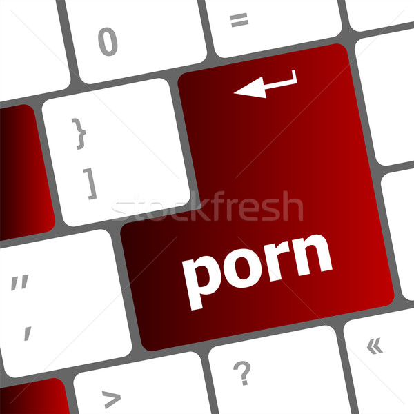 Porn button on computer pc keyboard Stock photo © fotoscool