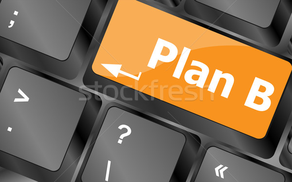Plan b anahtar bilgisayar klavye iş Internet klavye Stok fotoğraf © fotoscool