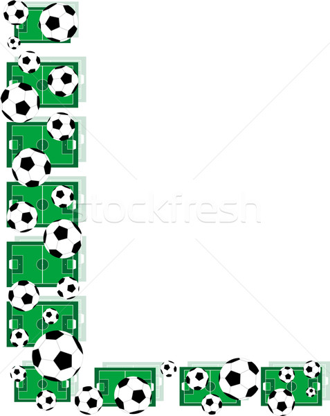 L, Alphabet Football letters made of soccer balls and fields Stock photo © fotoscool