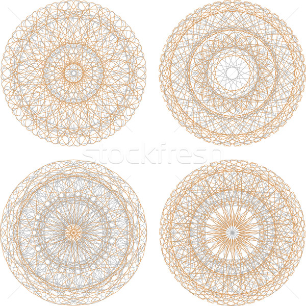 Guilloche mandala pattern for currency, certificate or diplomas Stock photo © fotoscool