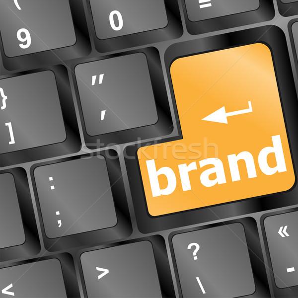 ブランド コンピュータのキーボード ビジネス オフィス キーボード キー ストックフォト © fotoscool