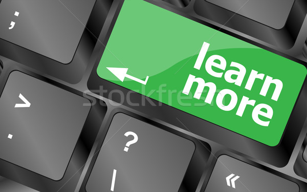 education concept with learn more button on computer keyboard Stock photo © fotoscool