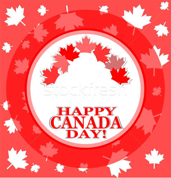 Happy canada day background Stock photo © fotoscool