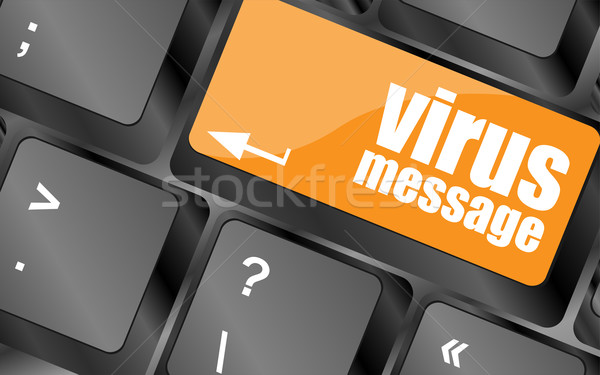 Virus un message clé ordinateur clavier Photo stock © fotoscool