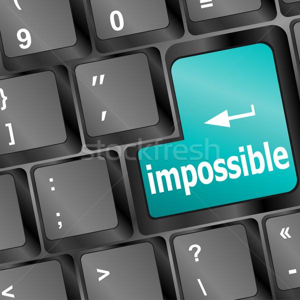 невозможное кнопки клавиатура бизнеса компьютер служба Сток-фото © fotoscool