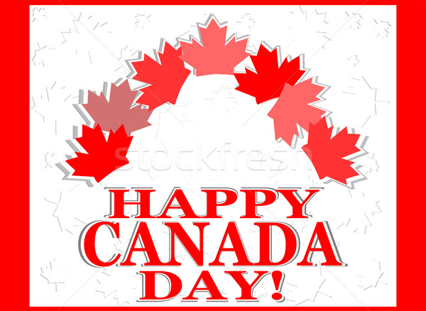 Happy Canada Day card Stock photo © fotoscool