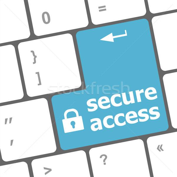 Foto d'archivio: Sicuro · accesso · view · tastiera · sicurezza
