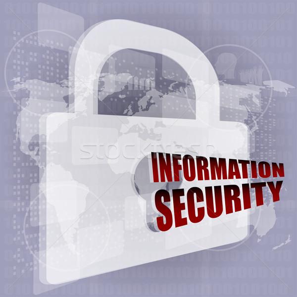 Security concept: Lock on digital screen Stock photo © fotoscool