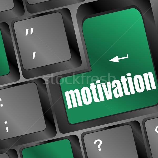 Foto stock: Verde · chave · motivação · negócio · computador