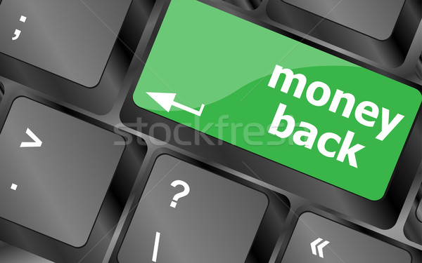 Keyboard keys with money back text on button Stock photo © fotoscool