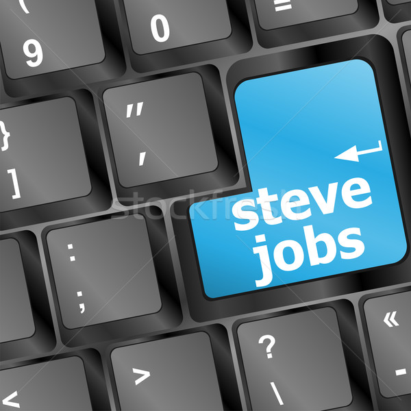Steve Jobs button on keyboard - life concept Stock photo © fotoscool