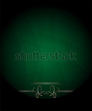 Zöld arany virágmintás címke háttér ital Stock fotó © fotoscool