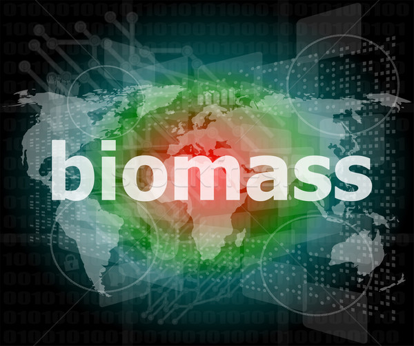 biomass word on digital touch screen background Stock photo © fotoscool