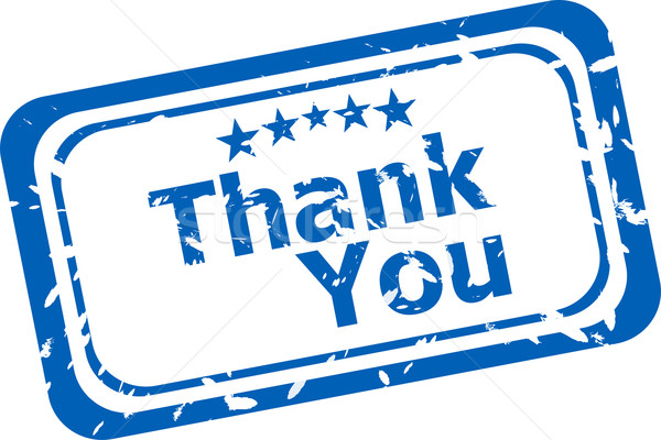 Stylized stamp showing the term thank you. All on white background Stock photo © fotoscool