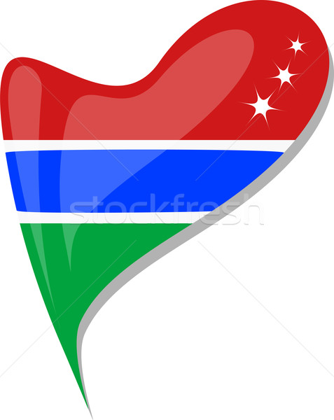 gambia in heart. Icon of gambia national flag. vector Stock photo © fotoscool