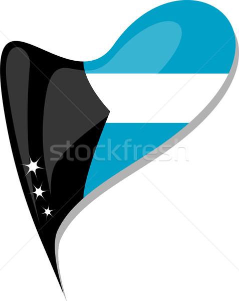 Багамские острова флаг кнопки формы сердца вектора икона Сток-фото © fotoscool