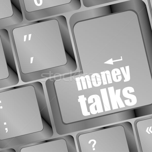 pc keyboard with money talks word Stock photo © fotoscool